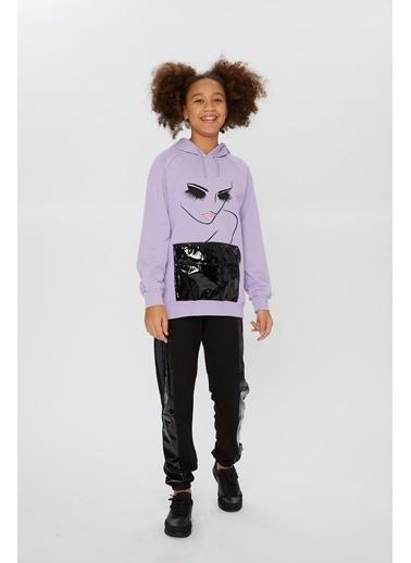Little Star Little Star Kız Çocuk Kapşonlu Sweatshirt Lila
